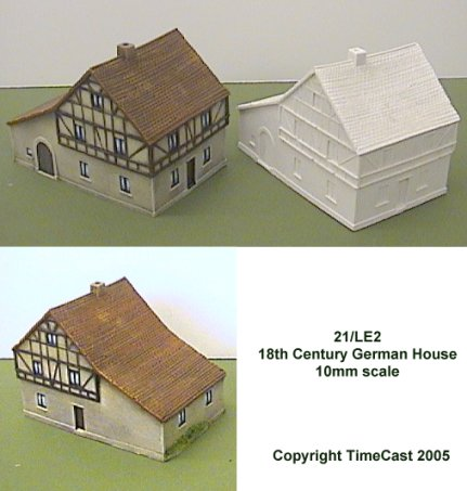 TimeCast Range 21 - 10mm scale buildings for the Napoleonic Wars